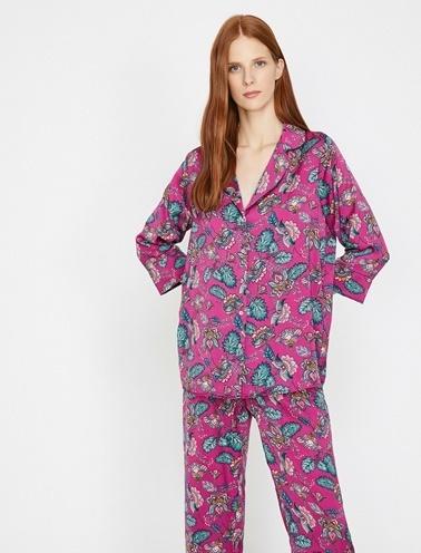 Koton Pijama Üst Mor